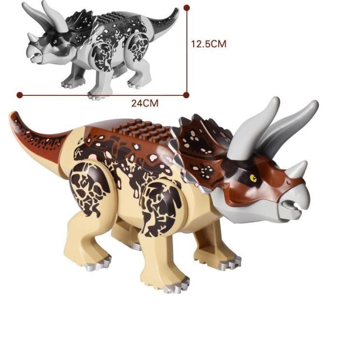 Blocs de construction dinosaures Jurassic série mondiale, Dino Park Velociraptor t-rex Triceratops Indominus Rex, grandes [5EF80D7]