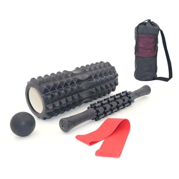 EVA Yoga Colonne Équipement de conditionnement physique Mousse Rouleaux blocs Train Gym Muscle Ball noir