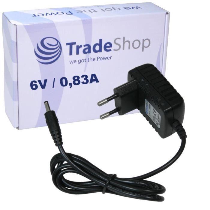 Bloc d'alimentation câble de charge chargeur 6 V-0,83 a (830ma) 3,5 mm x 1,2 mm pour babyphone Babyphone Philips Avent scd600 scd