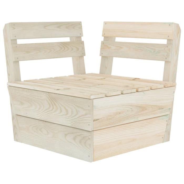 Canapé d'angle sectionnel Confort & Haute qualité - Banc de jardin Canapé d'extérieur Sièges palette Bois d'épicéa imprégné ®ZAOGJX®