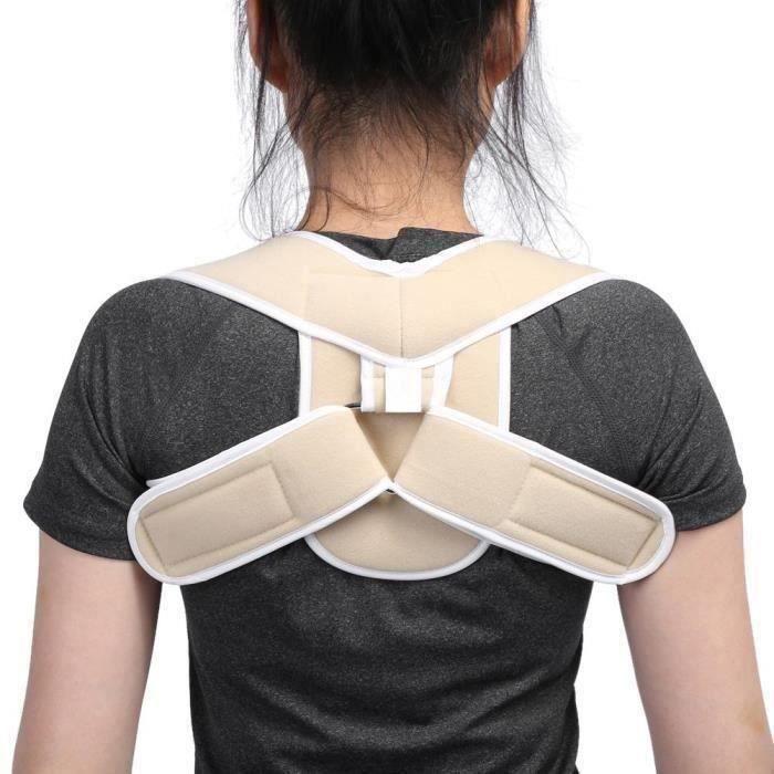Ceinture correcteur Posture Redresse Dos pour Améliore Posture Enfants Adulte (S)--Rose Vie