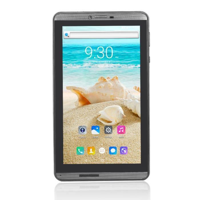 BDF BDF706 Tablette tactile 7 Pouces 1Go + 16Go WiFi Bluetooth Android 6.0 Tablette PC 3G Quad Core PC portable Noir