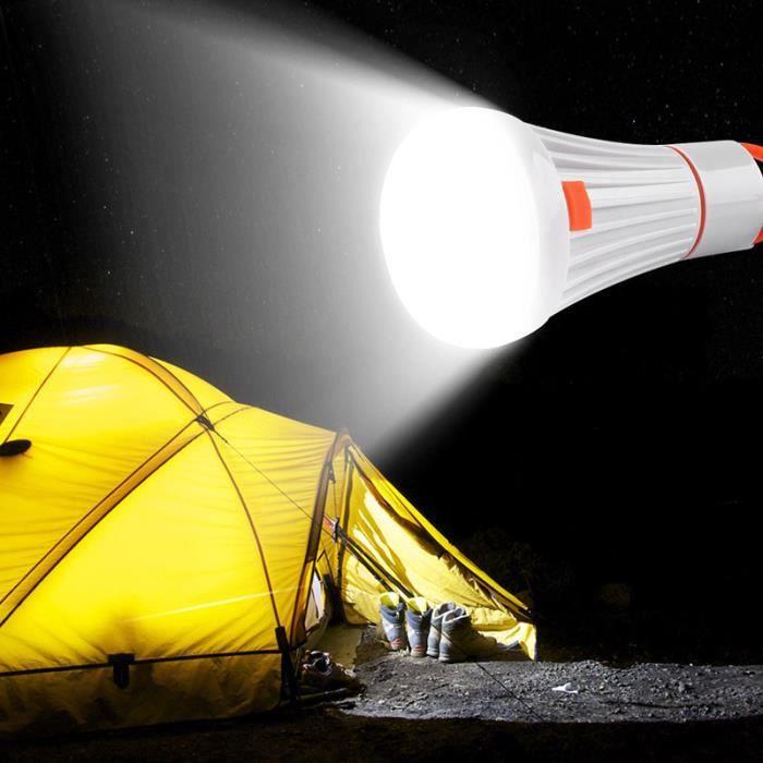 6LED 3W Portable lampe de poche LED lanterne torche Camping lumière lampe suspendue lampe de travail AAA-18650 4Modes po*ES15236