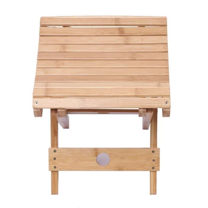 Tabouret pliable en bambou petit tabouret Portable pour la douche résistant aux espaces ventilés pou objet decoratif YFCC10526