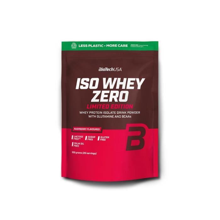 Iso Whey Zero FRAMBOISE 500g protéine isolat Biotech USA Native