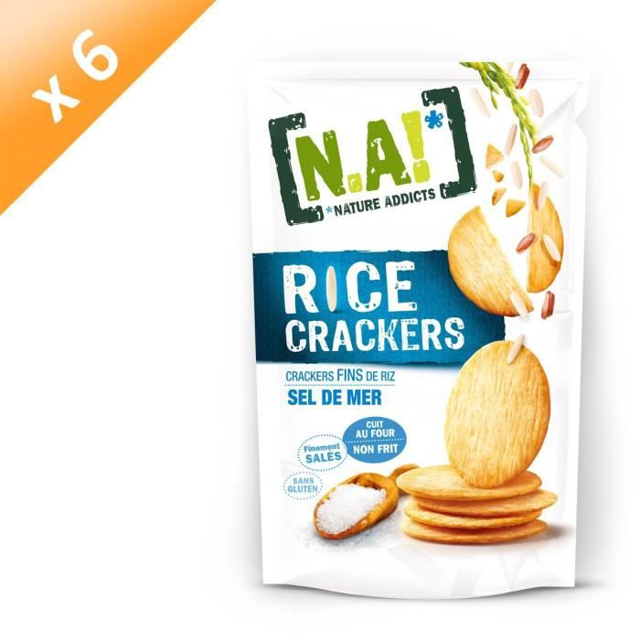 [LOT DE 6] N.A Rice Crackers Sachet de Sel de Mer - 70 g