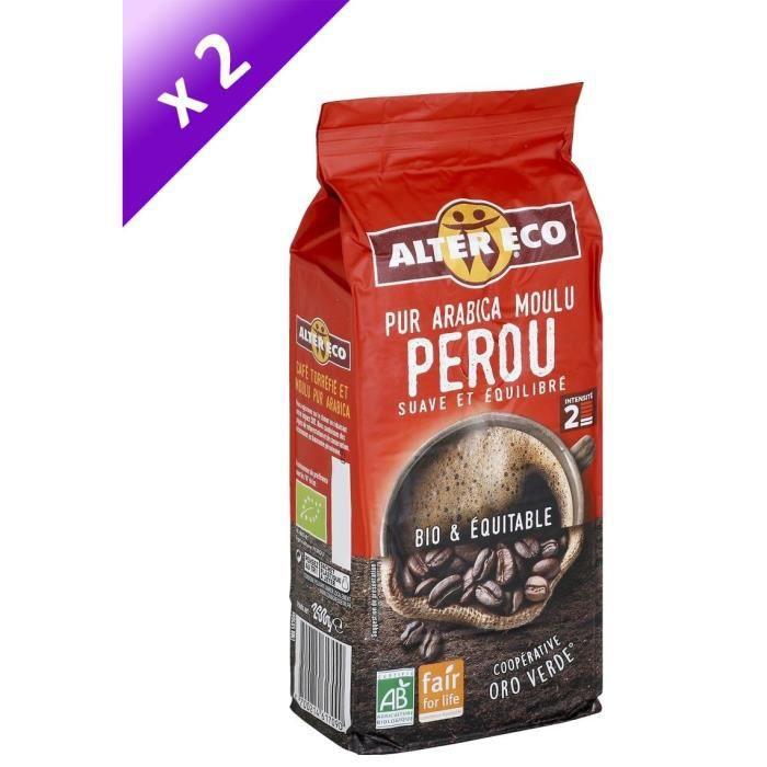 [LOT DE 2] ALTER ECO Café perou 100% arabica - 2 x 260g