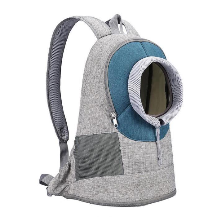 Porte-sacs pour animaux de compagnie Sac à dos Respirant Sac de transport de chat de chien pour les voyages bleu