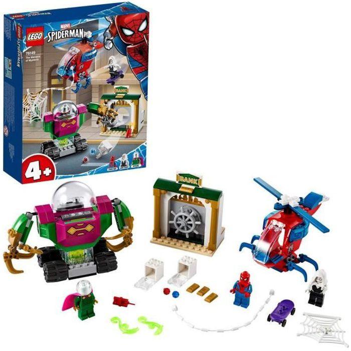 LEGO® Marvel Spider-Man 4 + TM - La menace de Mystério, Jouet Marvel Enfant 4 Ans Et Plus, 163 Pièces - 76149