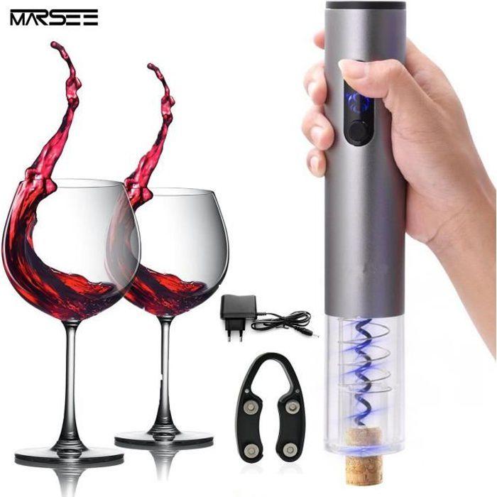 Tire Bouchon électrique pour vin décapsuleur rechargeable ouvre bouteille avec Coupe feuille pour vin Champagne