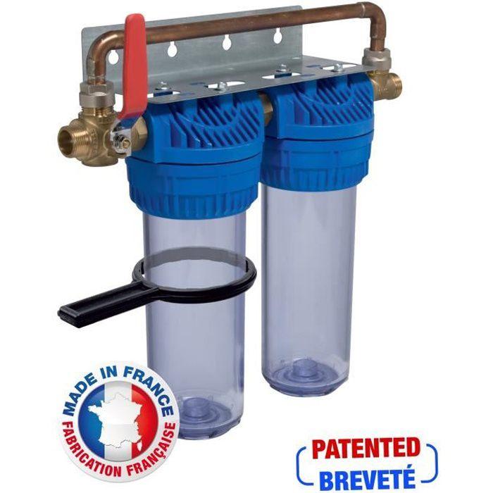 AQUAWATER Station de filtration anti-tartre haute performance 24 mois
