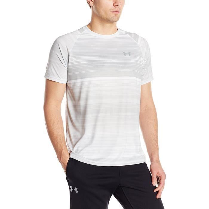 Under Armour T-shirt pour homme Motif Technique, Homme, T-shirt, Tech Printed Shortsleeve, blanc