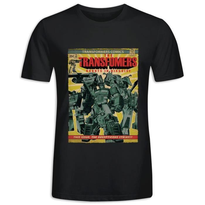 T-Shirt avec imprimé en Decepticon Robots In Disguise Transformers Manche Courte Tee Homme