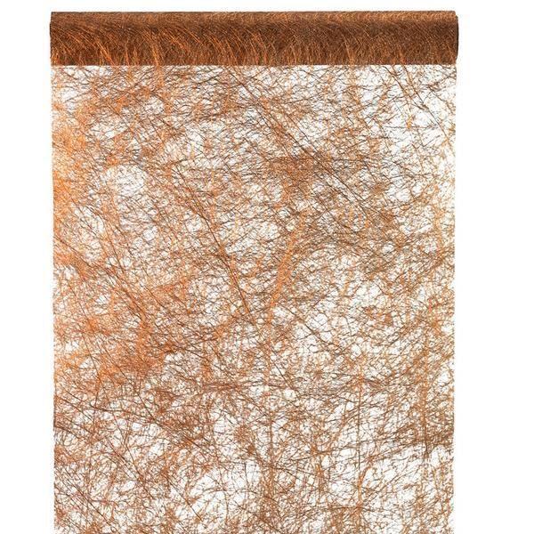 Chemin de table fanon métallisé cuivre (x1) REF/3431