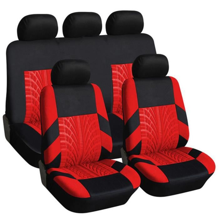 Housse de Siège Auto Universelle coussins pour Siège Voiture,auto Protecteur de siège, Couvre Siège voiture - Rouge03