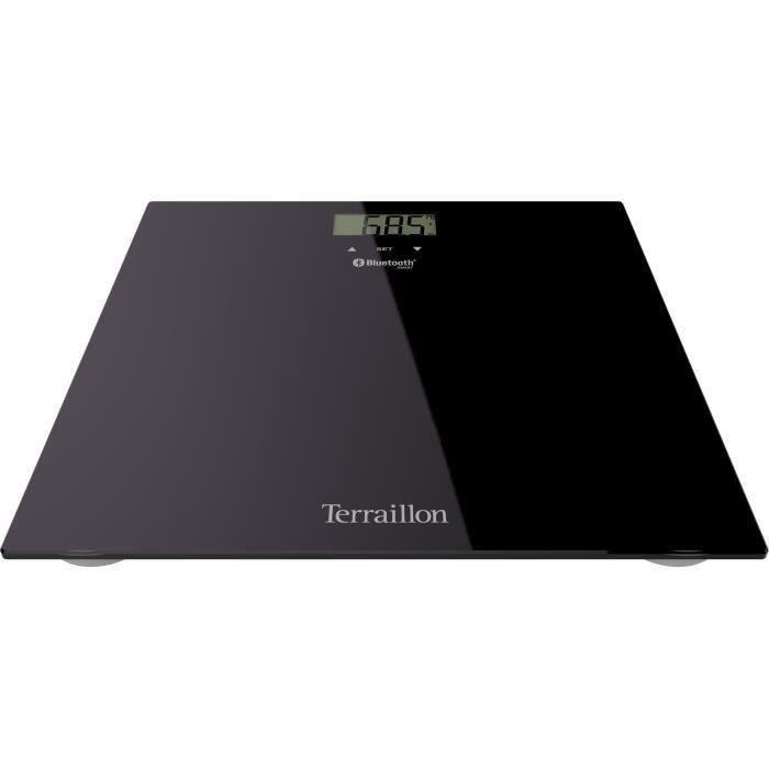SHOT CASE - TERRAILLON 14450 Imc Body Relax Pese-personne connecté - Plateau en verre 30 x 30 cm - Noir