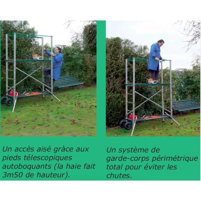 ESCALUX Echafaudage mobile 4m70 spécial jardin Eden 150