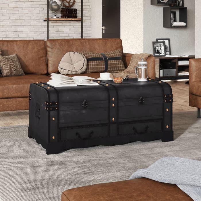 vidaXL Coffre de rangement en bois Large Marron