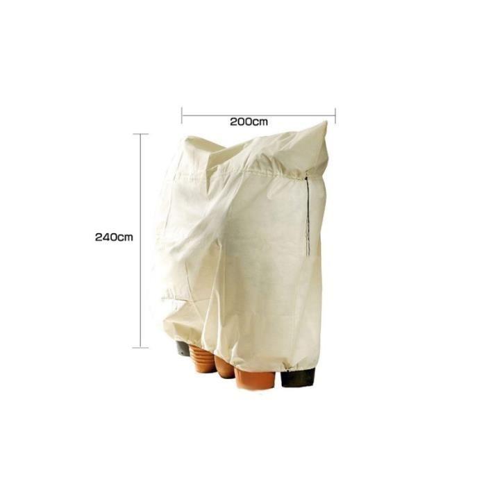 Lot de 4 Sacs de protection dhiver pour plantes Sacs d/'hivernage non tiss/é Dimensions/ 120 x 180/cm