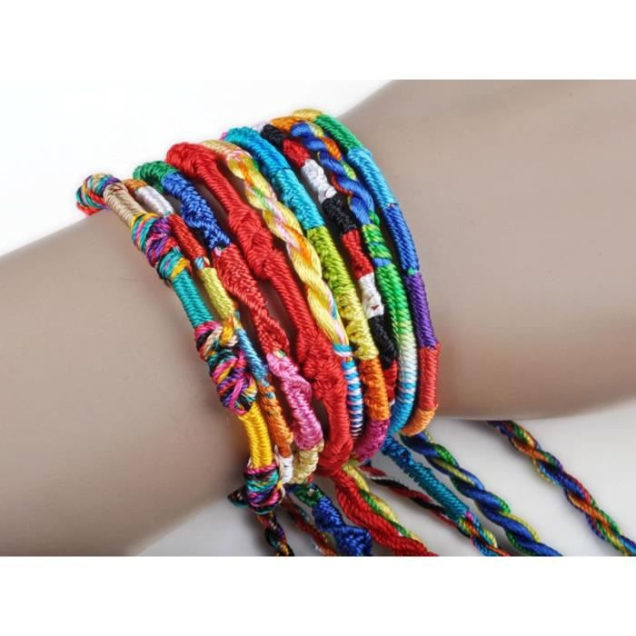 bracelet bresilien laine