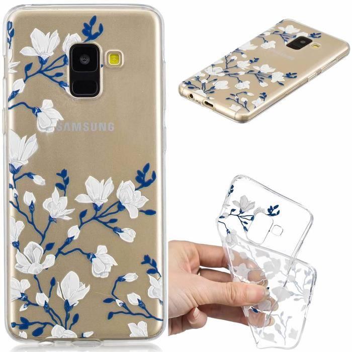 HOUSSE DE CHAISE coque Samsung Galaxy A8 2018 - A5 2018 A530,Doux T