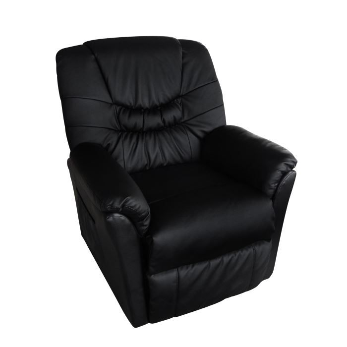 fauteuil lectrique de massage et de relaxation achat vente fauteuil textile cuir. Black Bedroom Furniture Sets. Home Design Ideas