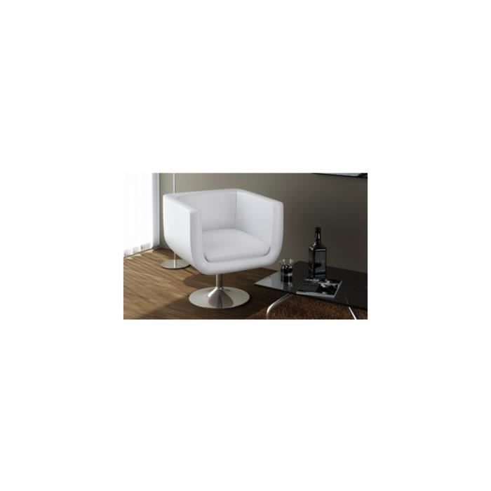 fauteuil design club blanc 63 achat vente fauteuil. Black Bedroom Furniture Sets. Home Design Ideas