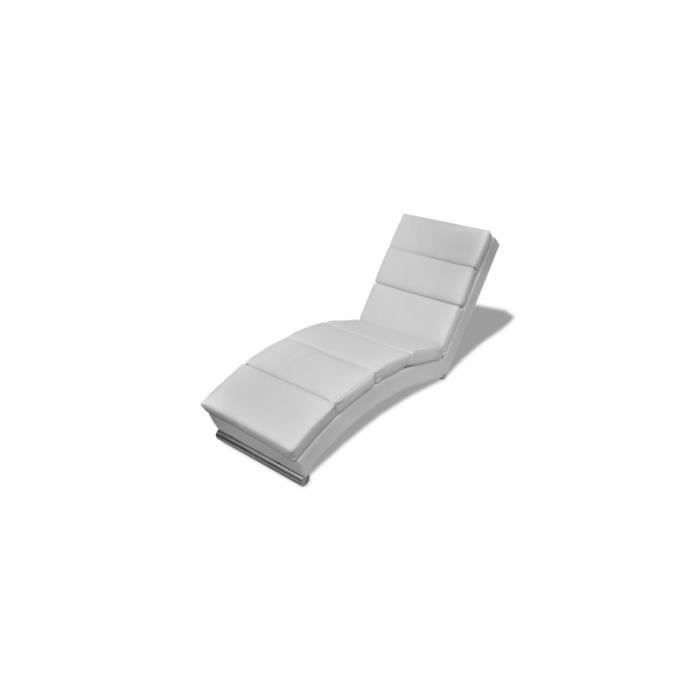 chaise longue blanche achat vente fauteuil blanc cdiscount. Black Bedroom Furniture Sets. Home Design Ideas