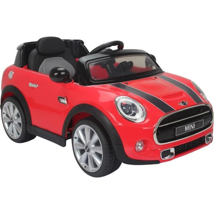 voiture lectrique 12v mini cooper s rouge achat vente. Black Bedroom Furniture Sets. Home Design Ideas