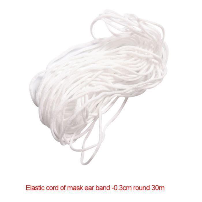 Elastique Couture 3mm x 146M,MerryDate Cordon /Élastique Bobine Plat Bande Tissu Rubans Extensible pour Artisanat Couture Loisir Cr/éatif V/êtements Bricolage DIY,Blanc