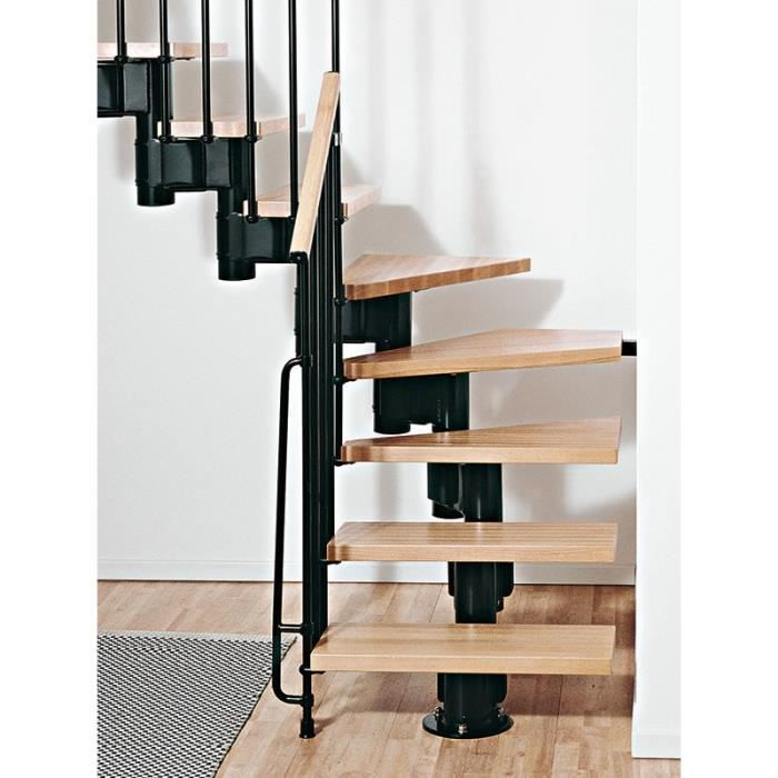 escalier 2 quart tournant kompact74 de chez fontanot largeur 74cm u forme hauteur 225. Black Bedroom Furniture Sets. Home Design Ideas
