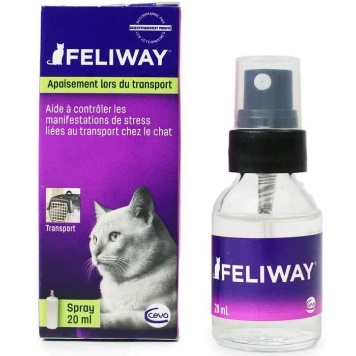 feliway spray anti stress voyage 20 ml pour chat achat. Black Bedroom Furniture Sets. Home Design Ideas