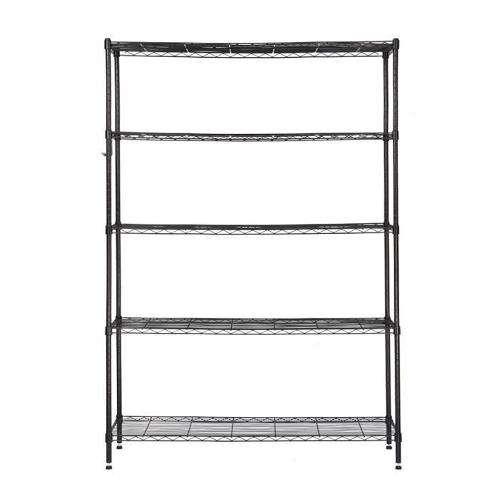 etagere de rangement a 5 tablettes. Black Bedroom Furniture Sets. Home Design Ideas