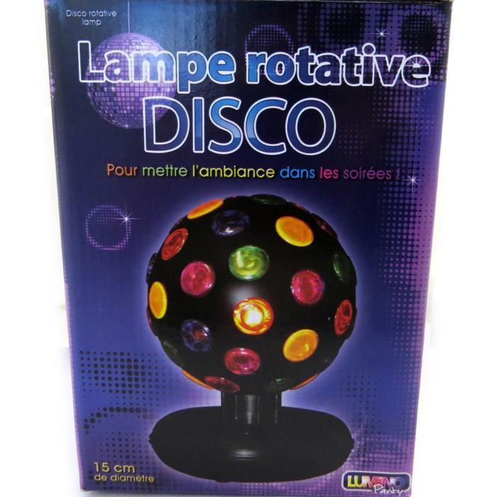 lampe rotative disco multicolore achat vente lampe et spot de sc ne lampe rotative. Black Bedroom Furniture Sets. Home Design Ideas