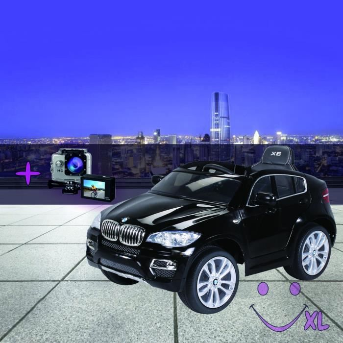 voiture lectrique pour enfants bmw x6 noir camera sport achat vente voiture enfant. Black Bedroom Furniture Sets. Home Design Ideas