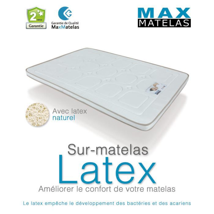 sur matelas en latex 160x200 achat vente sur matelas cdiscount. Black Bedroom Furniture Sets. Home Design Ideas