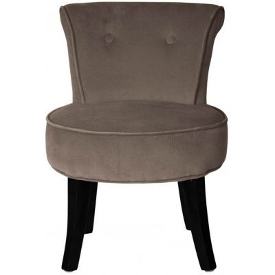 Fauteuil crapaud velours taupe - Fauteuil crapaud velours ...