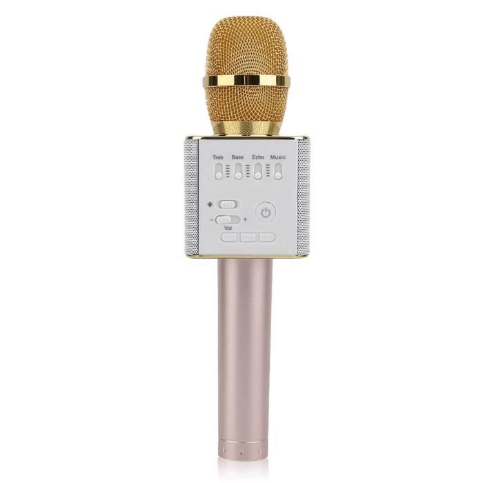 HAUT-PARLEUR - MICRO Q9 Haut-parleur Bluetooth sans fil microphone kara