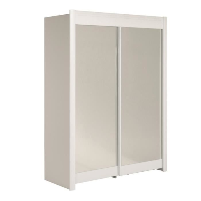 paris prix armoire portes coulissantes phenix 180cm blanc achat vente armoire de bureau. Black Bedroom Furniture Sets. Home Design Ideas