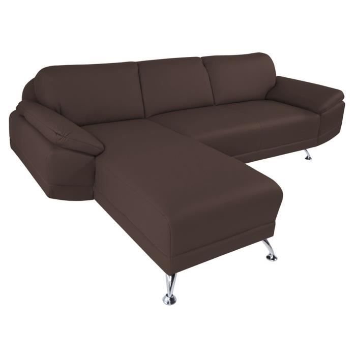 Canap d 39 angle gauche switsofa city chocolat achat vente canap sof - Vente privee canape d angle ...