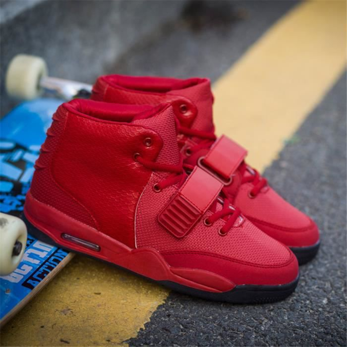 Mode West Basket Chaussures d'air Hommes Rouge...