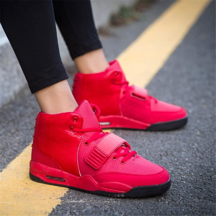 Mode West Basket Chaussures d'air Hommes Rouge... k0BGNF