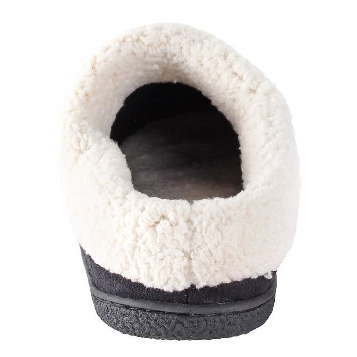 Everson Suede Mens Slippers I Micro-suede I Velveteen I Rubber-sole I Memory Foam I Comfortable Hous XAJIV Taille-47