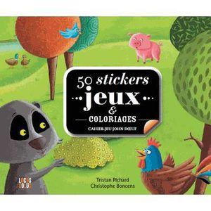 LIVRE JEUX ACTIVITÉS 50 stickers jeux et coloriages