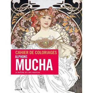 LIVRE DÉVELOPPEMENT Cahier de coloriages Alfons Mucha