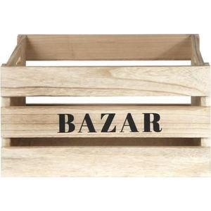 BOITE DE RANGEMENT Lot de 3 cagettes de rangement Bazar - Tailles dif