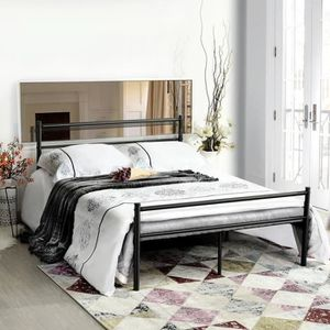 lit metal 140 x 190 achat vente pas cher. Black Bedroom Furniture Sets. Home Design Ideas