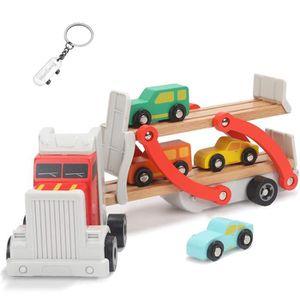 VOITURE ELECTRIQUE ENFANT Jouet Camion Enfant en Bois,Cadeau Camion Voiture