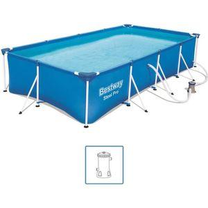 PISCINE Bestway Jeu de piscine rectangulaire Steel Pro 400