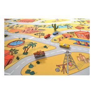 Sol Vinyle Plastique Lino pour les enfants Les rues de la ville verte 2 x 4m